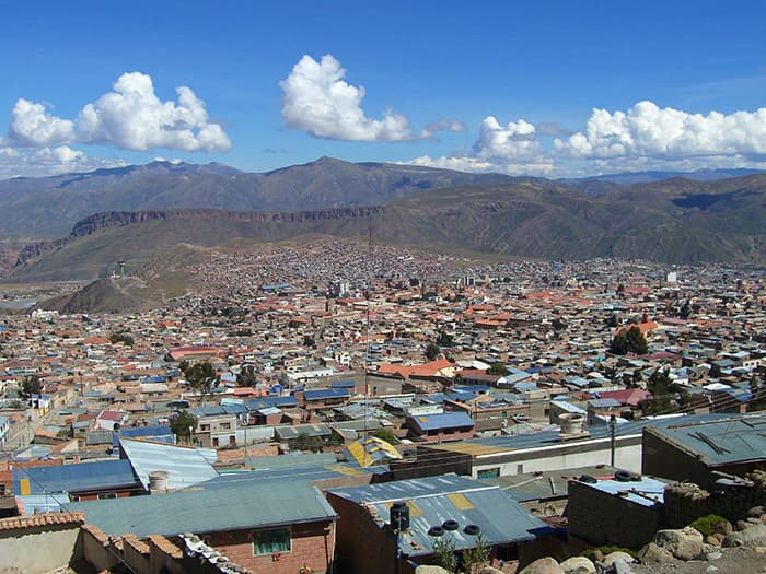 A scenery of Potosi city in Bolivia.