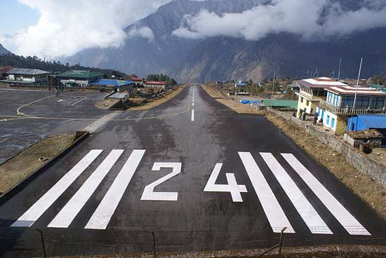 One of the smallest airports in the world, Tenzing-Hillary, is also one of the most dangerous.