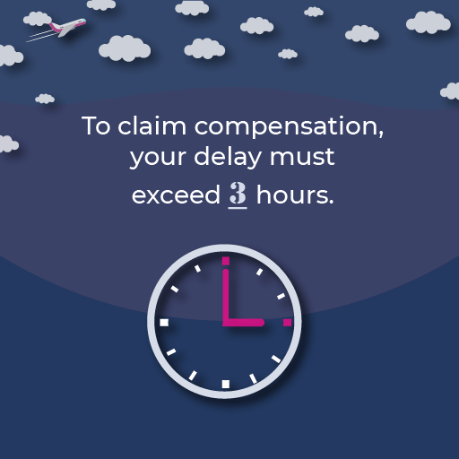 To be eligible for compensation, you need to have arrive at your final destination with a delay of over 3 hours.