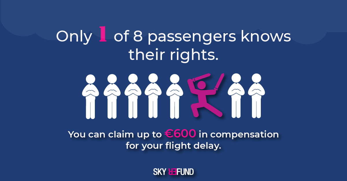 By knowing your passenger rights, you can claim compensation for your delay or cancellation!